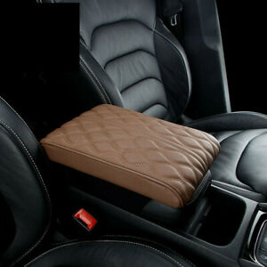 Racing Car SUV Center Console Armrest Cushion Mat Soft PU Leather Pad Cover