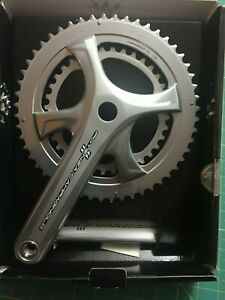 Campagnolo Potenza Crankset Silver 175mm 52-36 chainrings NIB PT+ self-extractor