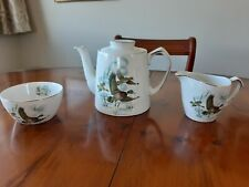ALFRED MEAKIN 'FENLAND' - FLYING DUCKS   TEA POT, SUGAR BOWL & MILK JUG