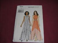 Vogue Pattern 9104 Miss Easy Sun Dress 2015 Sz 14-22 Uncut Slit Asymmetrical Hem