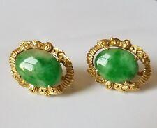 Vintage Jade earrings 18k/750 solid gold