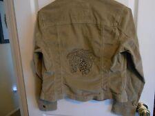 Repurposed Corduroy Jacket / Machine Embroidered Horse Head