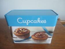 COLLECTIBLE TIN BOX WITH 96 CARD COLLECTION CUP CAKES RECIPES & PICTURES
