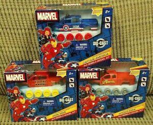 New Lot of 3 Marvel 4x4 Rebels Model Kits Spider-Man, Captain America & Iron Man