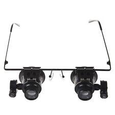 Schwarze 20X Reparatur Brille-Lupe mit LED-Licht W5V0