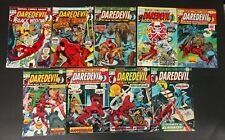 DAREDEVIL BRONZE  AGE LOT OF 18  BOOKS 1973 TO 1977 LOWER GRADE BUT COMP.