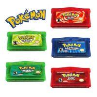 Fan Advance Gameboy Cartridge Game Card For Pokemon NDSL/GBC/GBM/GBA/SP 5 Styles