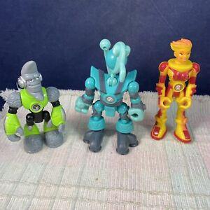 Fisher Price Planet Heroes Venus Dazzle, Uranus Yuri, Moon Lunar Action Figures