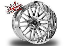 24 Inch 24x12 Hardcore Offroad Hc19 Chrome Wheels Rims 6x55 6x1397 44