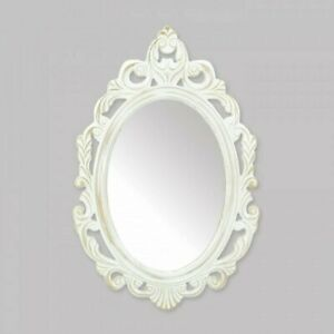 Antiqued White Wall Mirror
