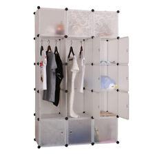 15 Cube DIY Storage Cabinet Portable Wardrobe Modular Organiser Cupboard
