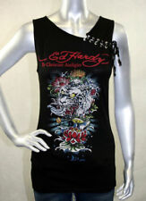ED Hardy women Tunic Tank Basic shirt Lace Wave Tiger Medium