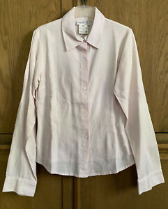 AGNES B SHIRT PINK COTTON WOOL 38 SMALL/MED MADE IN FRANCE