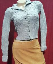 Hollister Gray Knit Wool Blend Sweater