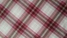 """100% Cotton Lawn Plaid by Burgundy and White color, 57""""/58"""" width, by the yard"""