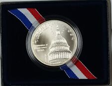 1994 US Capital Bicentennial UNC Silver Dollar Commemorative Coin as Issued DGH