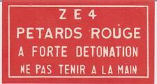 Vintage Petards Rouge Firecracker Pack Label