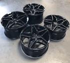 Mrr M755 Flow Formed 19x9.5 50 19x11 73 Wheels Black For C6 C7 Corvette