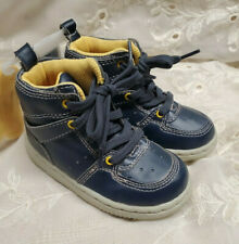 GAP Baby Toddler Boy Size 7 Navy Blue Lace-Up Hi-Top Sneakers Hiking Boots Shoes