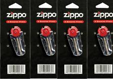 4 x Packs of Zippo Flints 6 Flints per Dispenser ZIP800