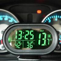 3 in 1 Digitale Orologio Elettronico Voltmetro Luminoso del Termometro Per Auto
