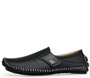 Mens Leisure Moccasins Leather Lazy Driving Loafers Shoes Slip On Flats US11