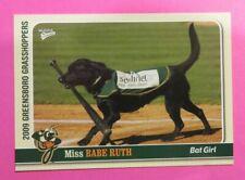 2009 MultiAd Sports, Greensboro Grasshoppers. Bat Girl - MISS BABE RUTH