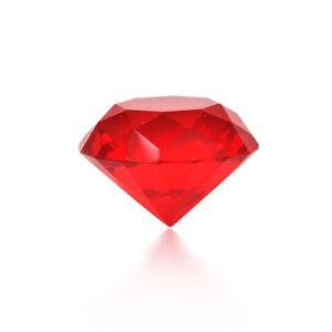 Glass Crystal Diamond Shape Paperweights Facet Jewel Wedding Decor Gift 30 T_cd