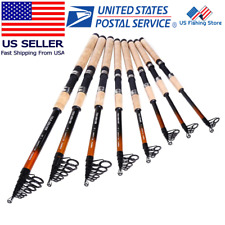 Carbon Fiber Telescopic Fishing Rod L Power Spinning Rod Saltwater Fishing US