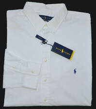 New M L XL XXL POLO RALPH LAUREN Men button down Shirt White performance top 2XL