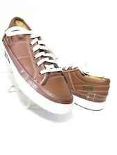 IMPULSE Brown Leather Mens Low Fashion Sneakers SZ 11 M