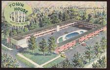 Postcard TUSCALOOSA AL Town House Motel 1950's