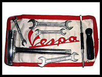 Vespa Tool Kit Red White Pouch Vbb Vba Super Sprint 150 125 VM VN VL GS GL SS