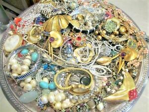 Unsearched Jewelry Vintage Modern Lot Wear Junk Craft Box 2 - 3 Pounds HUGE SALE