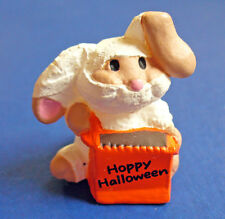 BUY1&GET1@50%~Hallmark MERRY MINIATURES Halloween BUNNY HOPPY MUMMY Vtg FIGURINE