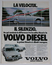 Advert Pubblicità 1979 VOLVO 244 GL D6 / 245 GL D6