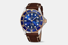 Revue Thommen XL Diver Blue Dial Men's Swiss Made Automatic Watch $2550 NEW