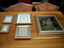 Picture Frame Set Including Mirror,  5 Pieces, Heirloom Brand,  New Condition