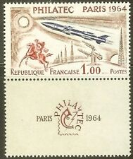 "FRANCE STAMP TIMBRE N° 1422 "" EXPOSITION PHILATEC FUSEE 1964 "" NEUF xx LUXE"