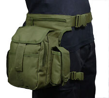 VERDE OLIVA TACTICAL Girovita Multi Pack con Cinturino Gamba-Softair Caccia HIP BAG