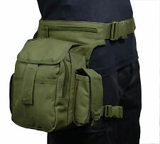 vert olive tactique taille pack multiple avec jambe lanière - Airsoft Chasse