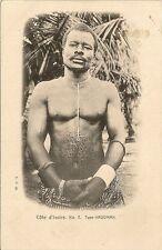 CARTE POSTALE AFRIQUE COTE D'IVOIRE N°7 TYPE KROOMAN