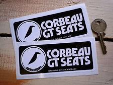 """Corbeau GT sièges oblongue autocollants 4.5 """"paire mini cooper MG MIDGET voiture de course racing"""