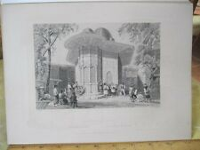 Vintage Print,FOUNTAIN IN GALATA,WH.Bartlett,Turkey+Greace,Engraving
