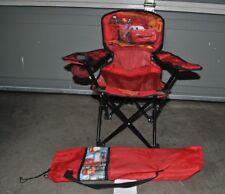 Disney Pixar Car's Kids Toddler Camping Chair Folding Bag Lightning McQueen