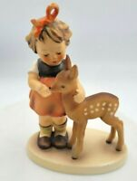 "Goebel Hummel (#136/1) TMK 5 ""Friends"" Girl with Fawn 4"" Figurine"