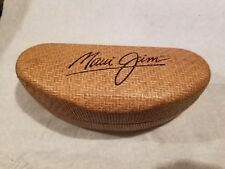 Maui Jim Large Clam Sunglasses Eyeglasses Hard Case and Cleaning Cloth/Pouch
