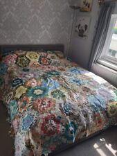 More details for vintage patchwork quilt 256 x 274 cm patchwork hobby project- magnificent