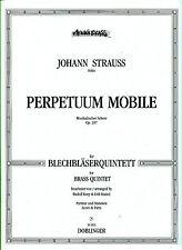 Johann Strauss-perpetuum mobile partituras 257 para blechbläserquintett