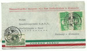 "Mexico cover ""Transatlantic Clipper"" to Germany 1941 censored"